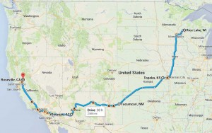Rice Lake to KC to ABQ to PHX to SAC