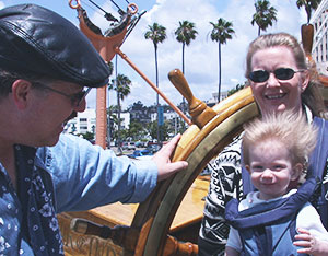 Cap'n Fiona on the Star of India with Mommy and Daddy